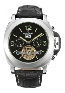 Reloj Forsining Automatico Malla De Cuero Tourbillon Fecha