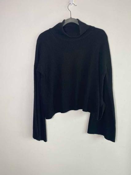 Sweater De Lana Negro Paula Cahen Danvers 2 Bs Cuello Alto