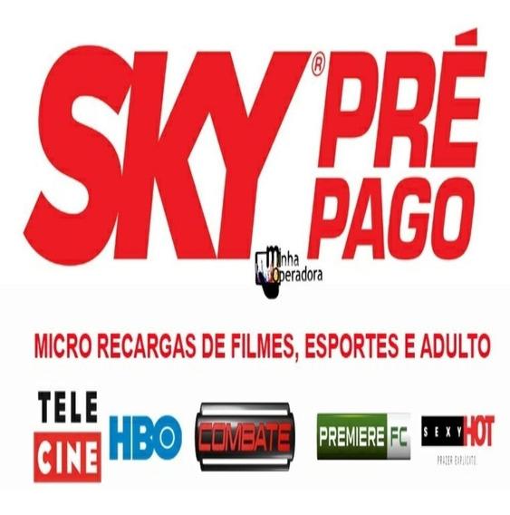 Recarga Sky Pre Pago 12 Meses Pacote Digital 47 Canais