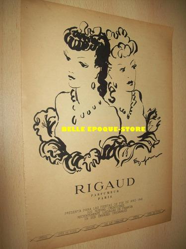 Clipping Antigua Publicidad Perfume Para La Mujer Rigaud