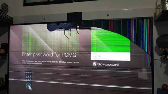 Tv Sony Xbr-65z9d 4k Smart Tela Trincada Leia Todo O Anuncio