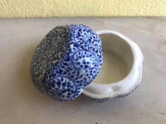 3 Caixinhas Porta Joias Porcelana Madeira Antiga