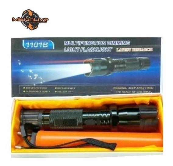 Linterna Picana Stun Gun 1101b Led + Puntero Laser + Baliza
