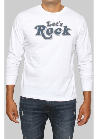 Remera Manga Larga Old Bridge Hombre Rock Merli