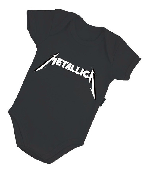 Body Bebê Metallica Rock Clássico Roupinha Nenem Bore B073pr