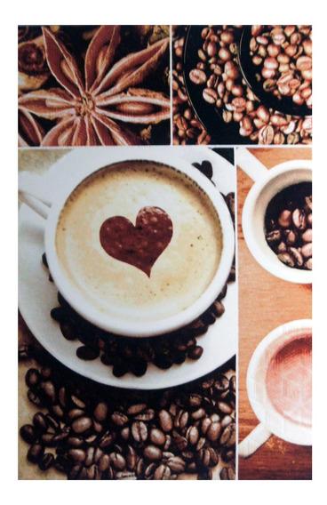 Café Express Azulejo Decorado Para Cocina 20x30cm