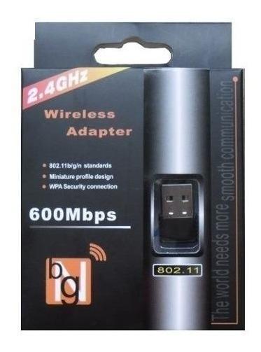 Adaptador Receptor Wireless Usb Wi-fi 150mbps Nano