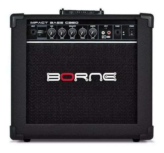 Amplificador Borne Impact Bass Cb60 Combo 20w Preto 110v/220