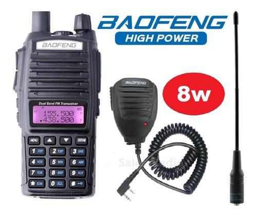 8w Radio Baofeng Uv-82 Hp Vhf/uhf + Micro + Antena Nagoya