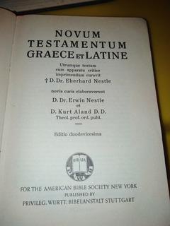 Biblia Novum Testamentun Graece Et Latine