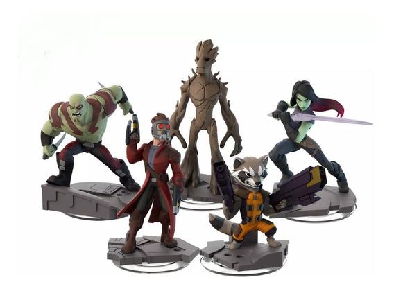 Guardianes De La Galaxia Set X 5 Simil Disney Infinity Loose