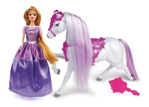 Imagen 1 de 5 de Muñeca Princesa Rapunzel Caballo Original New 2952 Bigshop