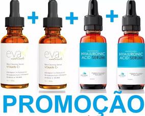 2 Vitamina C Eva 30ml Pum + 2 Hialurônico Petunia Pump