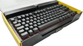Teclado Mecânico Gamer Corsair K63, Led Vermelho, Switch Che