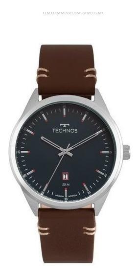 Relógio Technos Masculino Classico De Couro 2115msc/0a