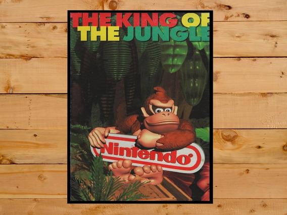Poster Quadro Donkey Kong Country Snes Super Nintendo 30x42