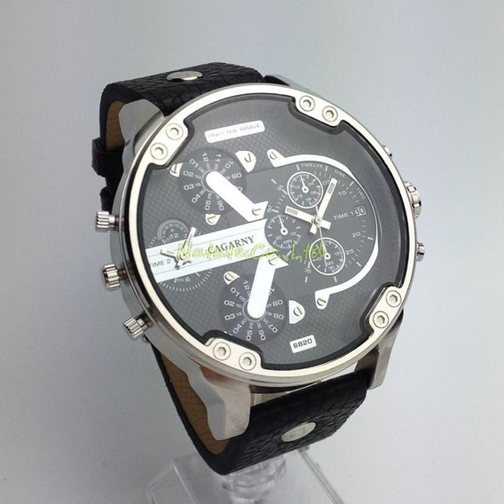 Relógio Cagarny 6820 Duplo Movimento Masculino Original!