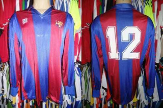 Barcelona 1988 Camisa Titular Mangas Longas Gg # 12.