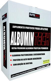 Albumina Tech 1kg Morango Nutritech (20g Proteínas/porção )
