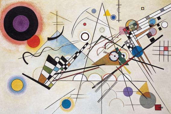 Cuadros Kandinsky Composición 8 Tela 85x120 En Bastidor