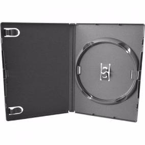 Capa Plastica De Dvd - Preto - Kit 100 Uni