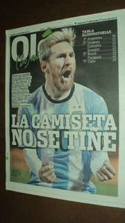 Argentina 1 - Uruguay 0 - Eliminatorias 2016 - Fecha 7 / Ole