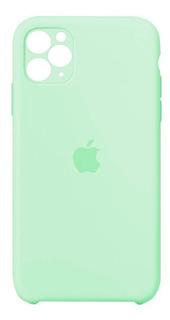 Carcasa Silicona Cubre Cámara iPhone 11 Pro Verde Claro