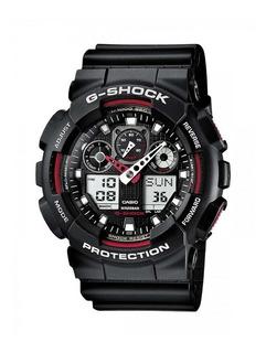 Reloj Casio G Shock Ga 100-1a Rojo/negro
