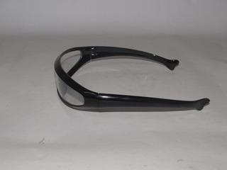 Óculos Transparente Cyclops Bike Com Armação Preta Cdg723