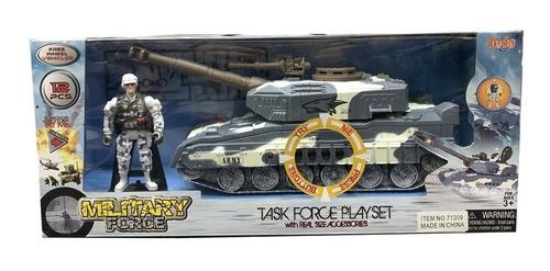 Playset Tanque Militar Con Figuras Y Sonido Itm 71309