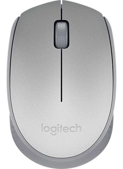 Mouse Logitech Sem Fio M170 Prata