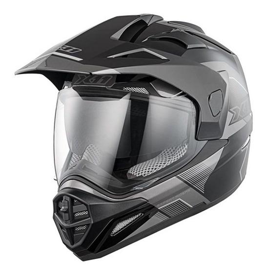 Capacete Motocross X11 Crossover X3 Motociclista Motoqueiro Trilha Cross Moto Off Road Com Viseira E Óculos Interno