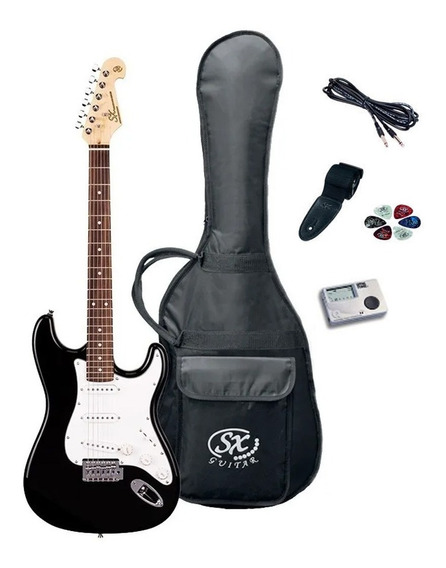 Combo Guitarra Electrica Sx + Afinador Cable Correa Y Puas
