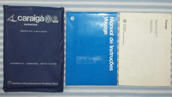 Manual Proprietário Original Vw Voyage 1987/1988+complemento