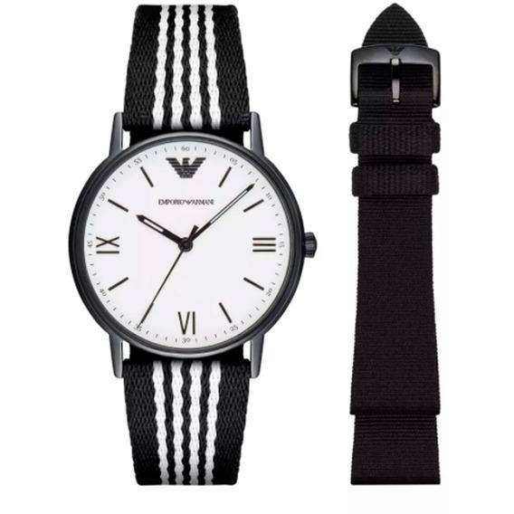 Relógio Emporio Armani Nylon Kit - Ar80004-8bn