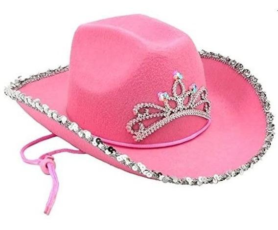 Sombrero Rosa Con Luces Accesorio Para Dama O Niña