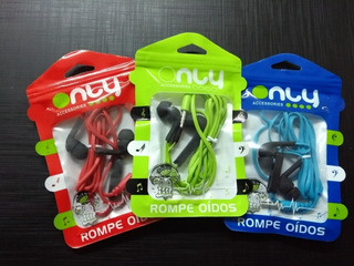 Auriculares In Ear Only Manos Libres Varios Modelos Y Colores Con Micrófono
