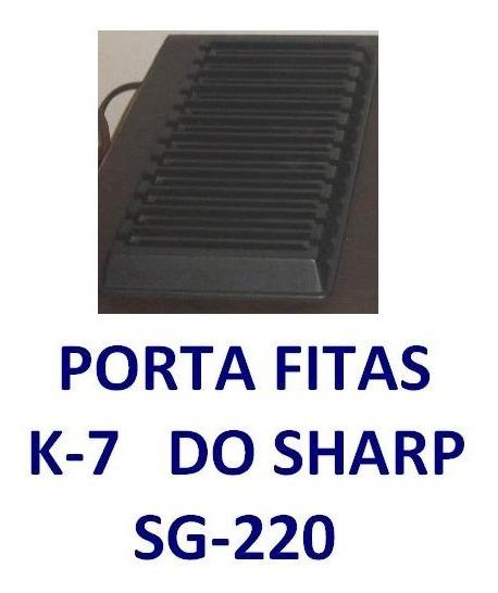 Porta Fitas K-7 Do Som Antigo Sharp Sg-220