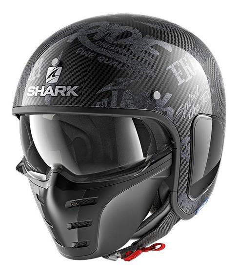 Casco Moto Carbono Abierto Modular Shark S-drak Freestyle