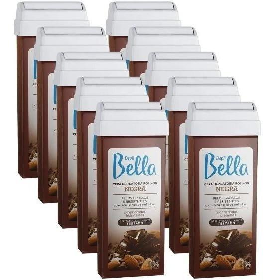Kit 10 Cera Rolon Depilação Depil Bella Negra