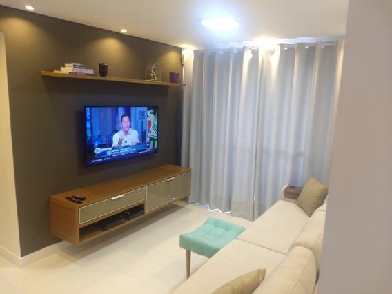 Apartamento Totalmente Reformado, Pintado E Mobiliado