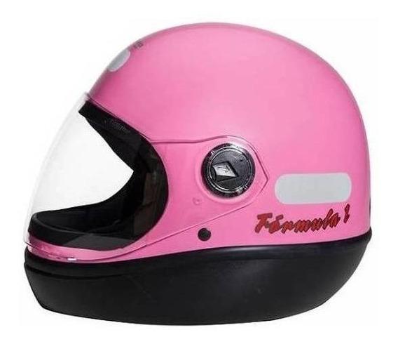 Capacete para moto integral San Marino Classic rosa tamanho 58