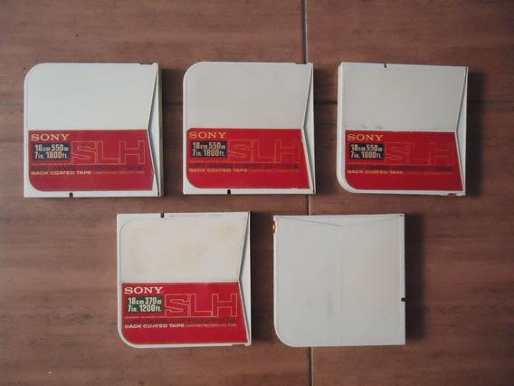 Fitas De Rolo Sony Slh - Lote Com 5 Unidades