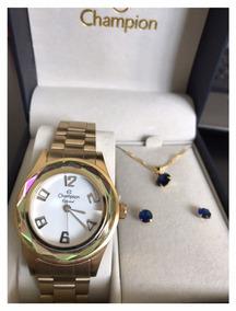 Relógio Champion Dourado Feminino Cn29990j