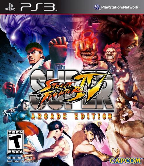 Jogo Ps3 Super Street Fighter 4 (arcade Edition)