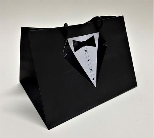 Bolsa Clásica Premium Negra Smoking Padre 18x25x18cm (x50u)