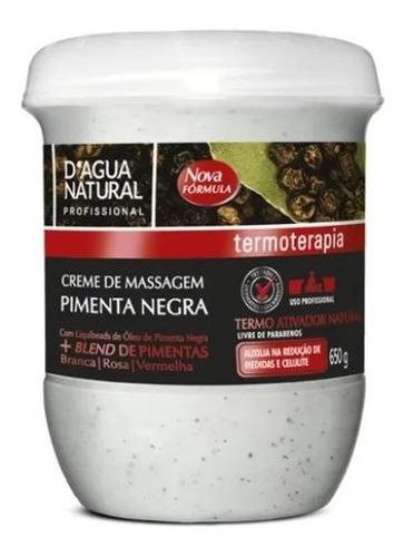 Imagem 1 de 2 de Creme Massagem Pimenta Negra Termoativo Natural 650 Gr