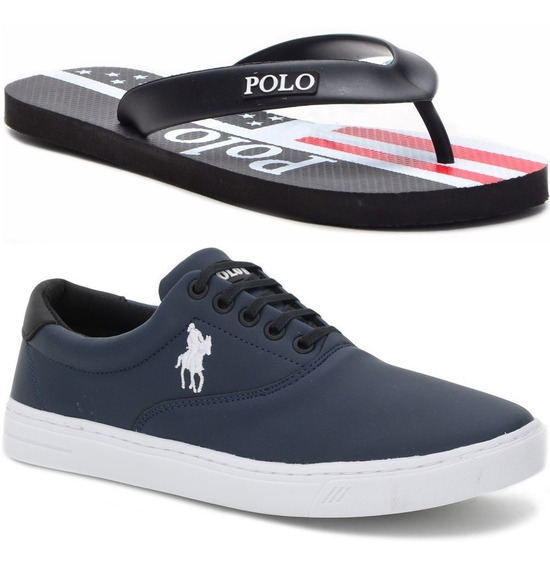 Kit Chinelo Masculino+ Sapatênis Original Polo Plus 37 Ao 45