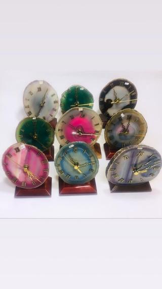 Relógio De Ágata Natural Pedra Semi Preciosa Frete Grátis!