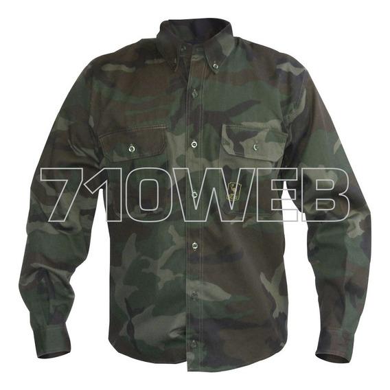Camisa Camuflado Militar Mangas Largas - Outdoor